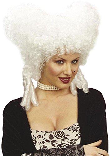 Widmann 6323w - parrucca, in stile barocco, bianca, in taglia unica