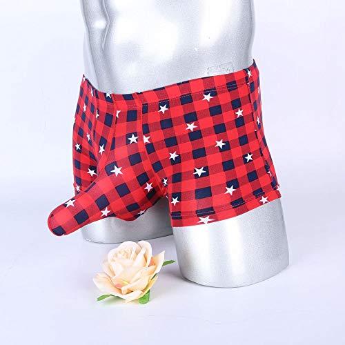 y Elephant Trunk, Herren-Boxershorts, ultradünne Hose mit Ice Silk Print und Vier Beinen, atmungsaktiver, Nahtloser sexy Boxer, atmungsaktive, leichte Comfort Lounge Shorts ()