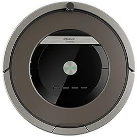 iRobot Roomba 871 Robot Aspirapolvere, Sistema di Pulizia ad Alte Prestazioni con Dirt Detect e Spazzole Tangle-Free, Adatto a Pavimenti e Tappeti, Ottimo per i Peli degli Animali Domestici, Programmabile, Grigio