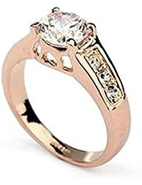 4d2626da6f715 Signore-Signori® Amour Bague Swarovski Elements Cristal Bague, Or Rose  Plaqué Bijoux