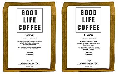 Good Life - Verve & Bloom Paleo Coffee Combo Box | Single Origin Arabica | Bulletproof Coffee | Specialty Coffee | Fresh Roasted to Order - 2Kg Total from GOOD LIFE COFFEE