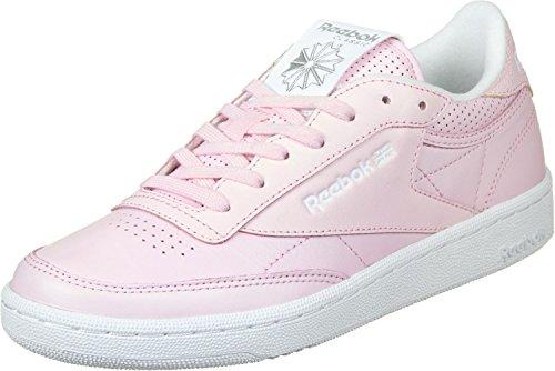 Reebok Club C 85 Fbt, Chaussures de Running Femme, Rose Rose (Porcelain Pink/white/silver Met/skull Grey)