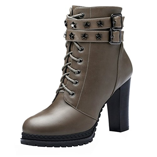 fq-real-women-fashion-pu-lace-up-double-belt-buckle-metal-platform-chunky-high-heel-shoes35-uk-grey