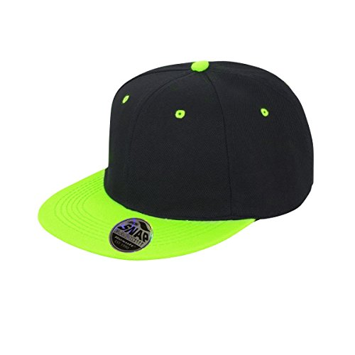 Result Unisex Core Bronx Original Flat Peak Snapback Dual Colour Cap (One  Size) ( 7db44ebd77be