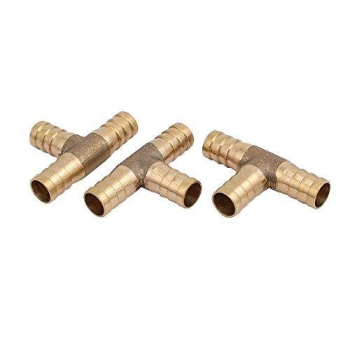 3 Stück 12mm Dmr. T Form 3-Wege Kupferschlauch Widerhaken Rohrleitung Anschlüsse DE de -