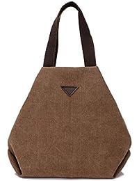 Tongshi Bolso simple grande retro del bolso de Crossbody del hombro de la vendimia del mensajero de las mujeres