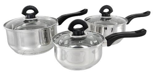 Buckingham Set de 3 casseroles 16 cm/1,6 L 18 cm/ 2,3 L 20 cm/ 3,2 L