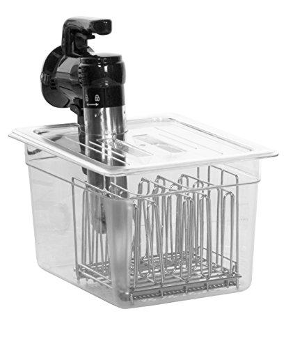 C10L-GO Deckel speziell für Gourmia mit Liavi Sous Vide Behälter C10 Gourmia Family Size - Fits LIPAVI C10 Container transparent