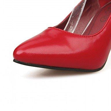 Wsx & Plm Taloneras-matrimonio Oficina Y Trabajo Formal Velada Y Fiesta-comodidad Innovadora-un Estilete-barniz De Microfibra-negro Rojo Blanco