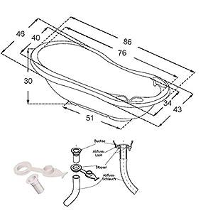 Tega Frame + Bath Tub with Plug Ideal Set