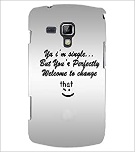 PrintDhaba Quote D-4895 Back Case Cover for SAMSUNG GALAXY S DUOS S7562 (Multi-Coloured)