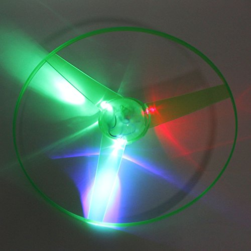 VANKER Niños discos voladores Bumerangs platillo volante del UFO LED de luz de juguete