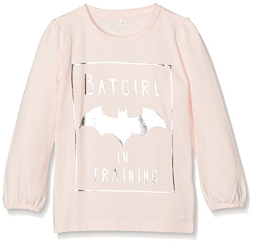 NAME IT NITBATMAN CILLE GIRL LS TOP MZ WAB, Maglia a maniche lunghe Bambina, Rosa (Pink Dogwood), 104