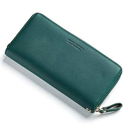 Damen Geldbörsen Damen Clutch Zip Around Wallet Clutch Wristlet Travel Long Purse (Color : D) -
