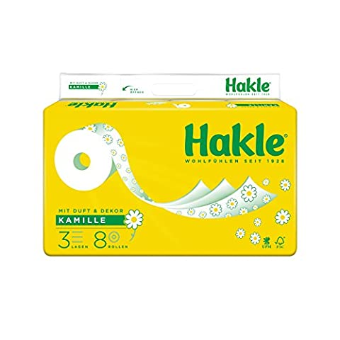 Hakle PLUS Pore-Textured Toilet Paper with Camille, 3-Ply