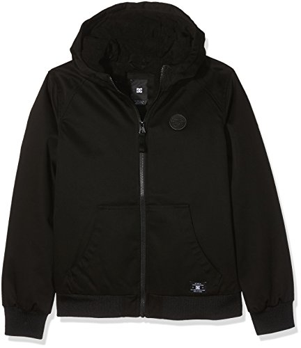 DC Apparel Jungen 4 Boy Ellis-Hooded Water-Resistant Jacket, Anthracite, 14/L (Dc Shoes Mädchen)