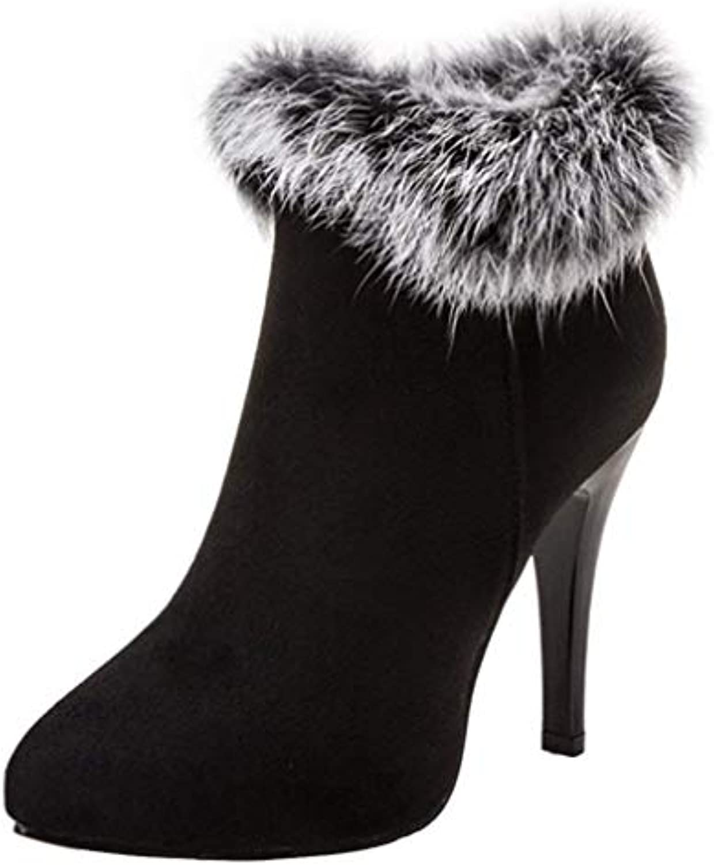 cae74c3b275f Vitalo Womens High Heel Vitalo Fluffy High Ankle Boots Zip Pointed Zip Toe Autumn  Winter Shoes B07GVH9WLV Parent 0c19d31. Search. Menu