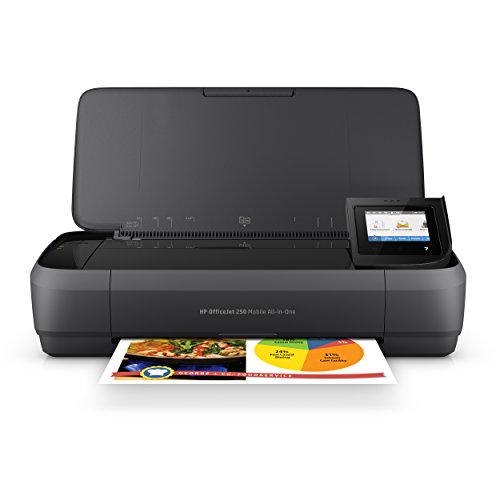 HP Officejet 250 mobiler Multifunktionsdrucker (Drucker Scanner, Kopierer, WLAN, HP ePrint, Wifi Direct, USB, 4800 x 1200 dpi) schwarz - In Portable One Drucker All