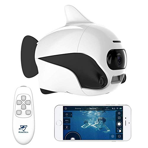 QinLL Biki, Drone sous-Marin, Télécommande sans Fil Submersible supprot, avec caméra 4K HD,...