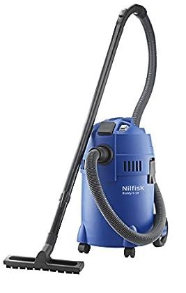 Nilfisk Buddy II 18 T- Aspiradora de trineo, 1200 W, bolsa para el polvo, color negro y azul