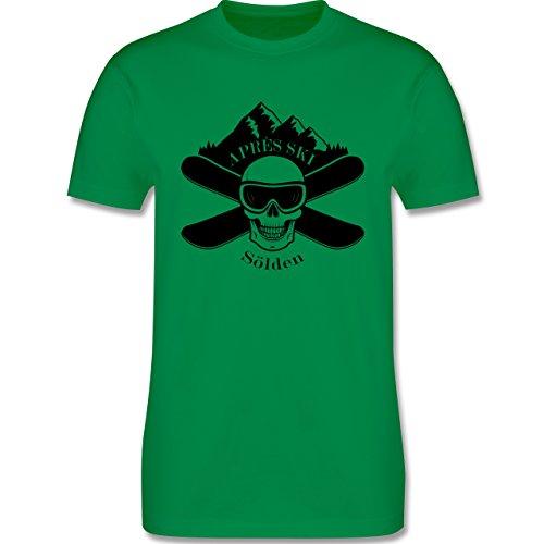 Après Ski - Apres Ski Sölden Totenkopf - Herren Premium T-Shirt Grün