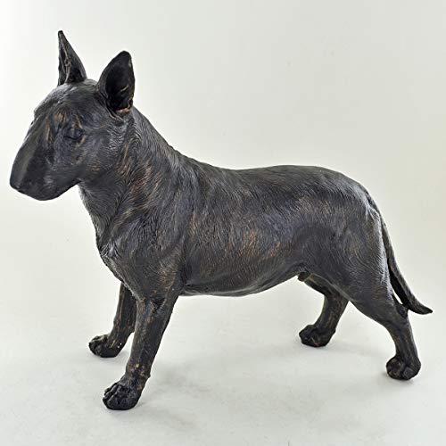 Prezents.com Escultura Resina Bronce Pintada Perro