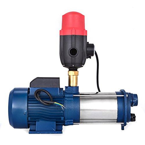 Bisujerro 2200W Bomba Centrífuga 160L/min Bomba de Agua Eléctrica Bomba Centrífuga Eléctrica JET Centrífuga para Casa, Jardín (con interruptor de presión)