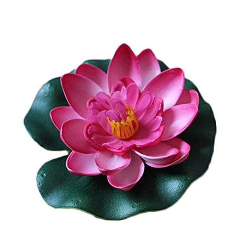 Xuxuou Schwimmend lotusblüte Lotus Schaum Lotusblume Seerose Simulation wasserpflanzen Dekor Fuer Aquarium Fisch Tank Teich Dekoration (Tank Dekoration Schwimmenden Fisch)