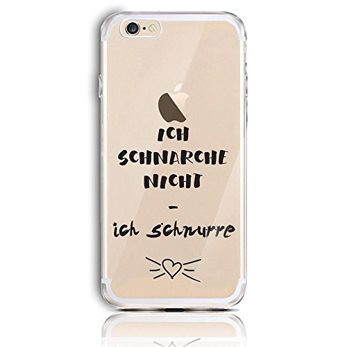 Blitz® CHAT motifs housse de protection transparent TPE iPhone Félix Cat M2 iPhone 6 6s La ronronne M14
