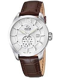 Jaguar Watches J663/1 - Reloj analógico de cuarzo para hombre con correa de piel, color marrón