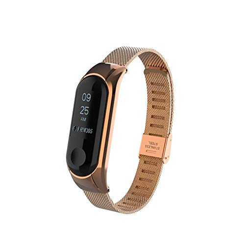 Gosuper Xiaomi Mi Band 3 bands, Milanese Stainless Steel Watch Band Strap for Xiaomi Mi Band 3