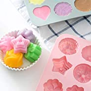 Joyevic Soap Molds Silicone Chocolate Cake Bread Mold Ice Cube Jelly Candy Baking Mould ESA Supplies 12 Caviti