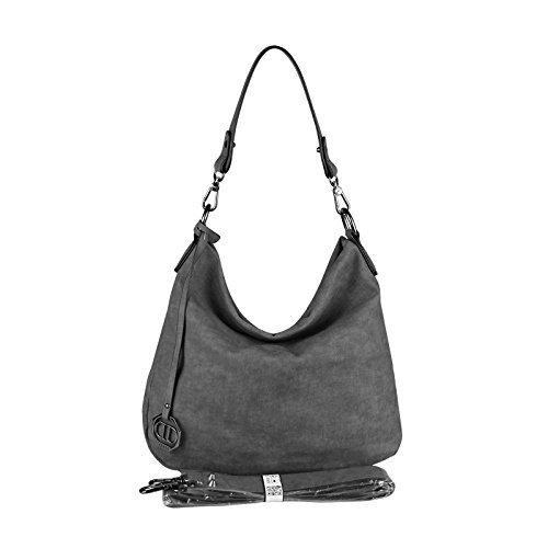 OBC Only-Beautiful-Couture, Borsa tote donna Verde Khaki 35x29x10 cm ca.: 35x29x10 cm (BxHxT) GRIGIO SCURO 35x29x10 cm