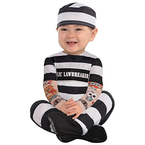 BABY TODDLER COSTUME - LIL LAW BREAKER - 12 - 24 MONTHS