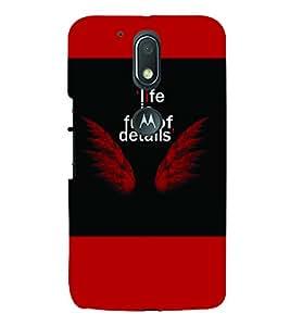 PrintVisa Quotes & Messages Angel 3D Hard Polycarbonate Designer Back Case Cover for Motorola Moto G4 Plus