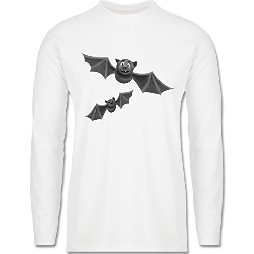 Halloween - süße Fledermäuse - Longsleeve / langärmeliges T-Shirt für Herren Weiß