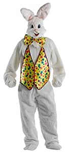 Ru1630 Bunny Deluxe Plush Jumpsuit With Shoe Covers Bow Tie Mitts Vest
