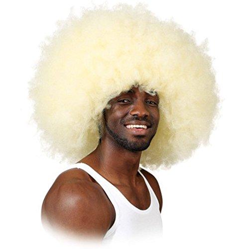 Super Afroperücke Jimmy blond Karnevalperücke Afro Perücke Rasta Look unisex Faschingsperücke (Blonde Rasta Perücke)