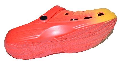 TMY 59-0543 Badeschuhe/ Clogs für Damen aus EVA in Rot/ Gelb- Gr.: 36-41 Rot/ Gelb