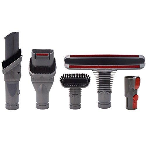 Brosse Kit Accessoires pour Dyson V8 V7 V10 Aspirateur avec Adaptateur,Total Clean Pièces pour Dyson V6 DC45 DC35 DC52 DC29 DC62 DC33 DC34(5 in 1)