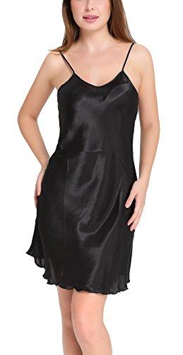 Aibrou-Donna-Sottoveste-con-Spalline-Regolabili-Semplice-Camicia-da-Notte-Estiva-Sexy-Biancheria-da-Notte-NeroBluRosaRossoViolaBiancoVino-Rosso