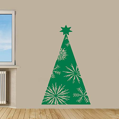 woyaofal Merry Christmas Wall Sticker Christmas Tree Gift Santa Vinyl Decal Home Nursery Decor Waterproof Mural 26X42cm -