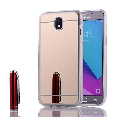Custodia Samsung Galaxy J5 2017,Cover Samsung Galaxy J5 Pro,Custodia Cover per Samsung Galaxy J5 Pro/Galaxy J5 2017,KunyFond Glitter Cristallo Lucido Strass Diamante Glitter Trasparente Caso con Stras oro Placcatura
