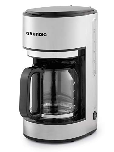 Grundig KM5620 Kaffemaschine, 1000W, 10 Tassen (1,25l), 1000, Edelstahl/Schwarz