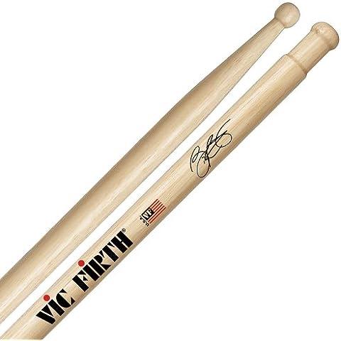 Vic Firth Bill Cobham Signature - Bacchette per batteria in hickory americano con punta di legno