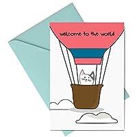 Biglietto d'auguri - welcome to the world - nascita - bambini - benvenuto - gli stampati- biglietto d'auguri (formato 15…