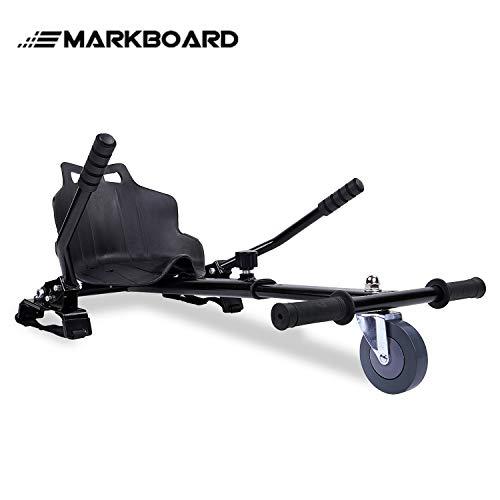 MARKBOARD Hoverkart Sitzscooter Gokart, Hovergokart, Hoverdrift hovercart, Sitz für Elektrokart Self Balancing Scooter, Kompatibel mit 6,5, 8,5 und 10 Zoll Hoverboard (schwarz)