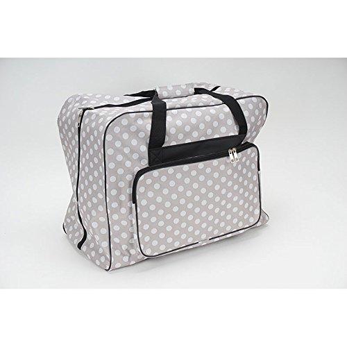Nähmaschinen Tasche XL (taupe/grau/weiß gepunktet)