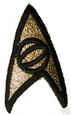 Star Trek SPOCK Uniform Aufnäher Wissenschaft 3. Staffel Original ()