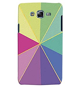 Citydreamz Multicolor Triangle Shapes Hard Polycarbonate Designer Back Case Cover For Samsung Galaxy A8